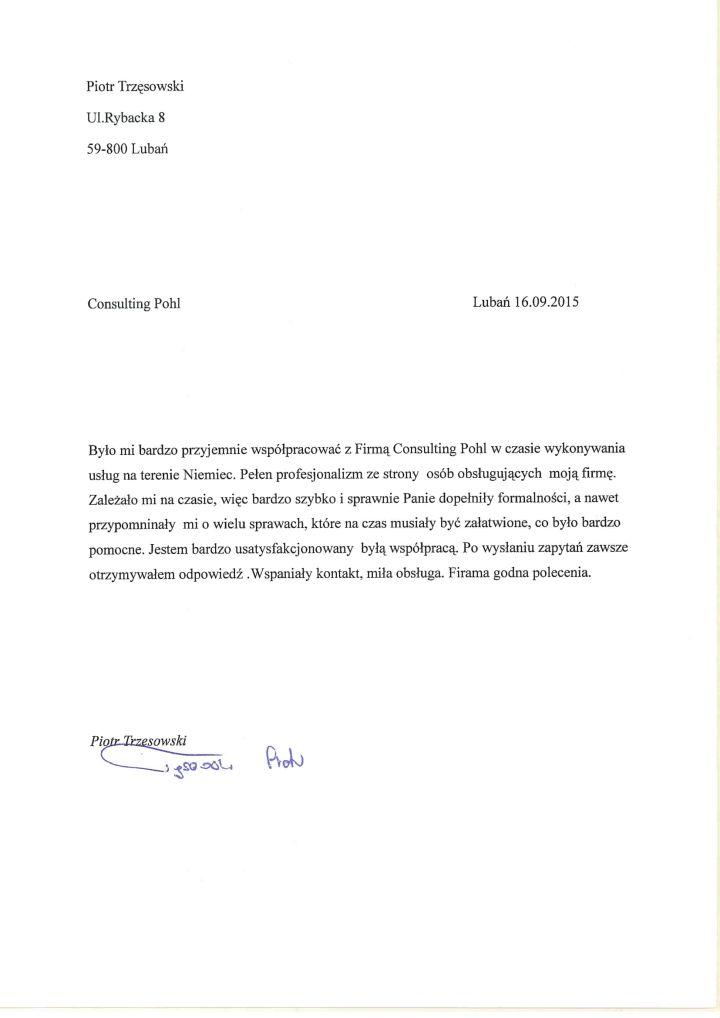 Referencje Piotr Trzęsowski