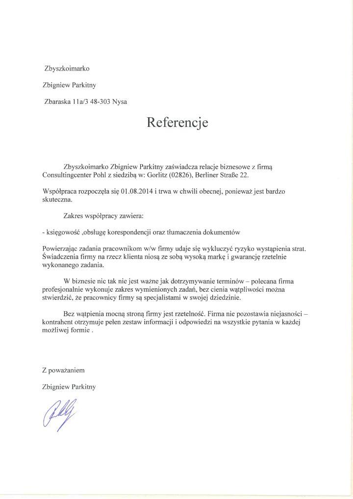 Referencje Zbyszkoimarko