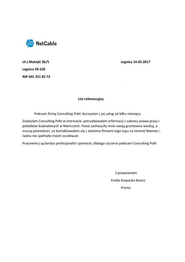 Referencje NetCable